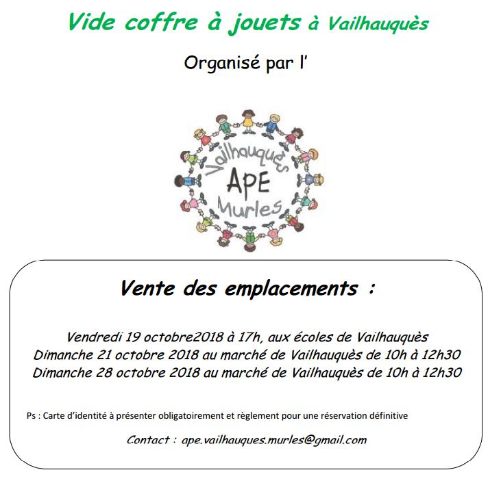 APE - VCJ - vente emplacements