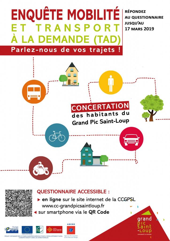Affiche Enquete mobilité ccgpsl
