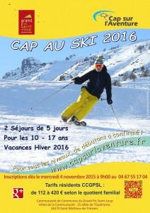 Affiche cap au ski 2016 image-2