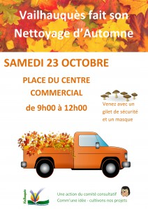 affiche clean up day automne