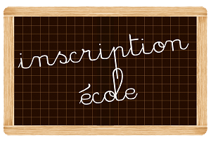 ardoise inscription ecole--