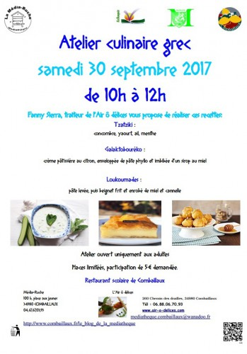 atelier culinaire grec