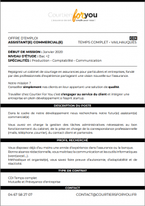 offre emploi couritersforyou 20.12.2019